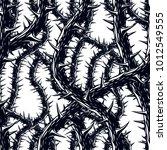 horror art style horrible... | Shutterstock .eps vector #1012549555