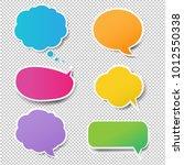 colorful speech bubbles set... | Shutterstock .eps vector #1012550338