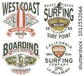 california west coast surfing... | Shutterstock .eps vector #1012552066