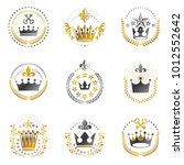 imperial crowns emblems set.... | Shutterstock .eps vector #1012552642