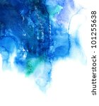 blue watercolor abstract hand... | Shutterstock . vector #101255638