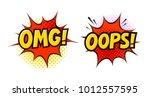 omg  oops in pop art retro...   Shutterstock .eps vector #1012557595