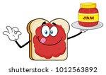 white sliced bread cartoon... | Shutterstock .eps vector #1012563892