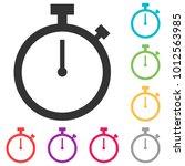 stopwatch vector icon.... | Shutterstock .eps vector #1012563985