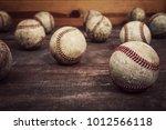 old vintage baseball background.... | Shutterstock . vector #1012566118