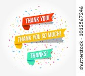 thank you  thank you so much  ... | Shutterstock .eps vector #1012567246