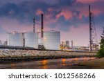 oil and gas refinery industrial ... | Shutterstock . vector #1012568266