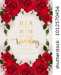 wedding invitation card... | Shutterstock .eps vector #1012570456