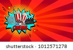 red cinema web banner. concept... | Shutterstock .eps vector #1012571278
