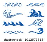 vector ocean waves ... | Shutterstock .eps vector #1012573915