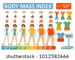 woman body mass index bmi... | Shutterstock .eps vector #1012582666