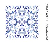 oriental vector square ornament ... | Shutterstock .eps vector #1012591462