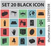 furniture and interior black... | Shutterstock . vector #1012595038