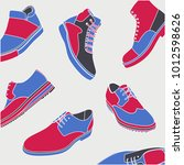 colored shoes poster | Shutterstock .eps vector #1012598626