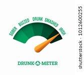 drunk o meter  17 march saint... | Shutterstock .eps vector #1012600255