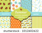 Cute Insects Seamless Pattern...