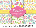 cute easter seamless pattern... | Shutterstock .eps vector #1012603222