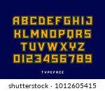 sport font. vector alphabet... | Shutterstock .eps vector #1012605415