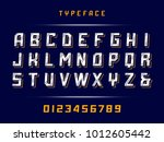 sport font. vector alphabet... | Shutterstock .eps vector #1012605442