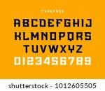 sport font. vector alphabet... | Shutterstock .eps vector #1012605505