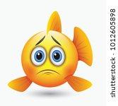 Cute Sad Fish Emoticon  Emoji ...