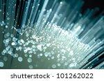 fiber optics close up  modern...
