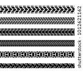 motorcycle tire tracks vector... | Shutterstock .eps vector #1012621162