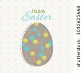colorful happy easter greeting... | Shutterstock . vector #1012625668