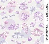 seamless vector pattern of... | Shutterstock .eps vector #1012633282