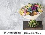 bouquet in foamiran paper. a...   Shutterstock . vector #1012637572