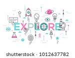 explore word surrounded by... | Shutterstock .eps vector #1012637782