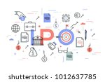 initial public offering or... | Shutterstock .eps vector #1012637785
