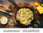 traditional italian dish... | Shutterstock . vector #1012639222
