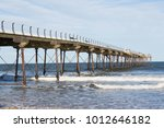 seaside pier at saltburn by the ... | Shutterstock . vector #1012646182