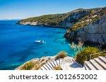 view of  agios nikolaos blue...   Shutterstock . vector #1012652002