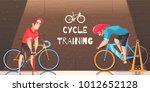 road circuit cycle racing... | Shutterstock .eps vector #1012652128