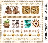 colored cartoon set of... | Shutterstock .eps vector #1012652302