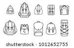set of vector outline... | Shutterstock .eps vector #1012652755