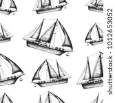nautical seamless pattern. hand ...   Shutterstock .eps vector #1012653052