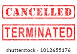 cancelled   terminated red... | Shutterstock . vector #1012655176