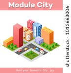 colorful 3d isometric city of... | Shutterstock .eps vector #1012663006