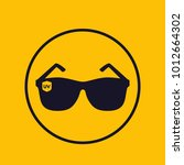 sunglasses  uv protection icon | Shutterstock .eps vector #1012664302