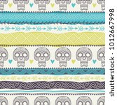 template of seamless pattern... | Shutterstock .eps vector #1012667998