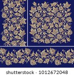 seamless floral borders and...   Shutterstock .eps vector #1012672048