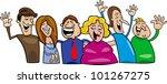 cartoon illustration of hugging ... | Shutterstock .eps vector #101267275