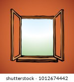 modern new clear double pvc... | Shutterstock .eps vector #1012674442