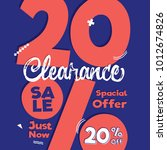 clearance sale blue pink 20... | Shutterstock .eps vector #1012674826
