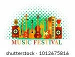 colorful music festival...   Shutterstock .eps vector #1012675816