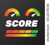 guage icon. credit score... | Shutterstock .eps vector #1012678156