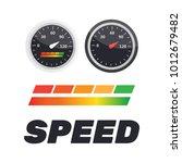 guage icon. credit score... | Shutterstock .eps vector #1012679482